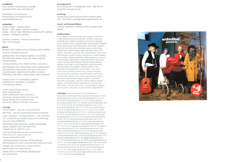 Erdmöbel Weihnachten.Details Zu Geschenk Das Erdmöbel Weihnachts Songbuch Mit Cd Boe6359 9783865439611