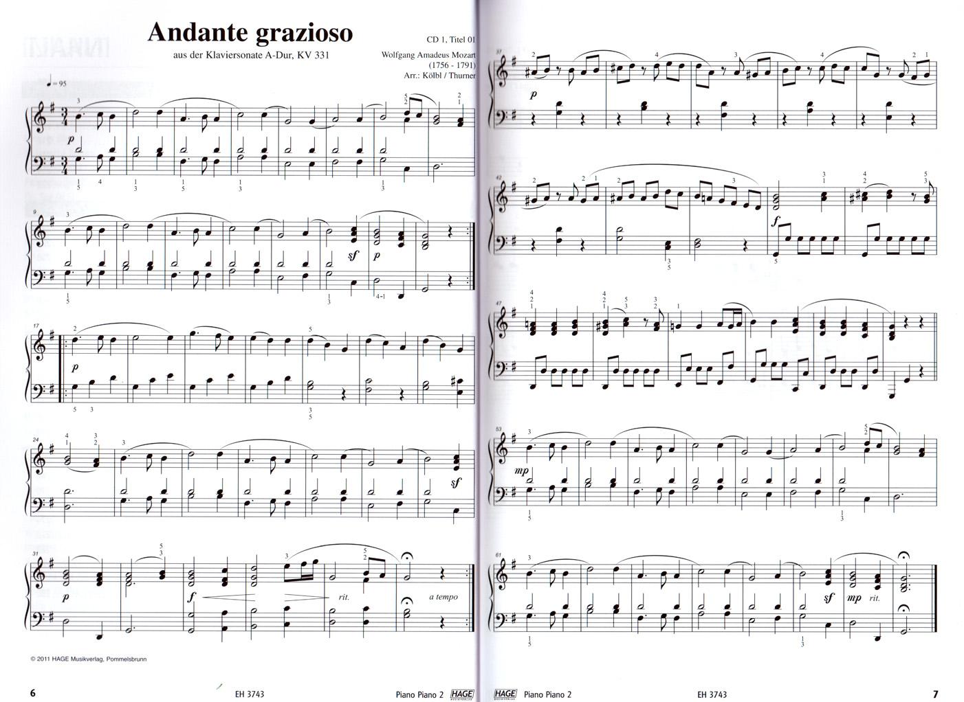 MITTELSCHWER Ausgabe PIANO PIANO 2 Klavier Noten Hage 3743