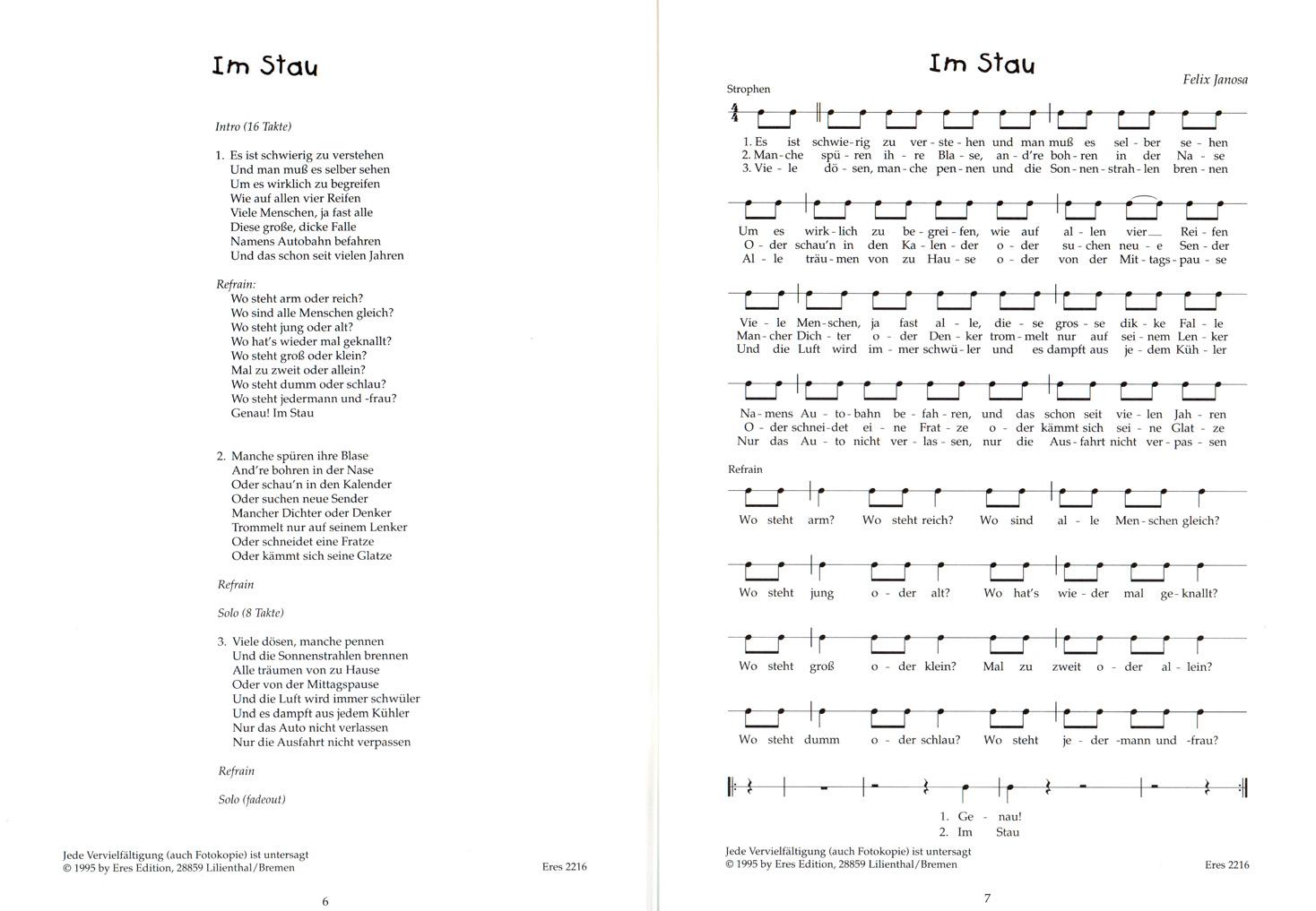 Das Rap Huhn von Felix Janosa - Notenbuch, CD - Eres