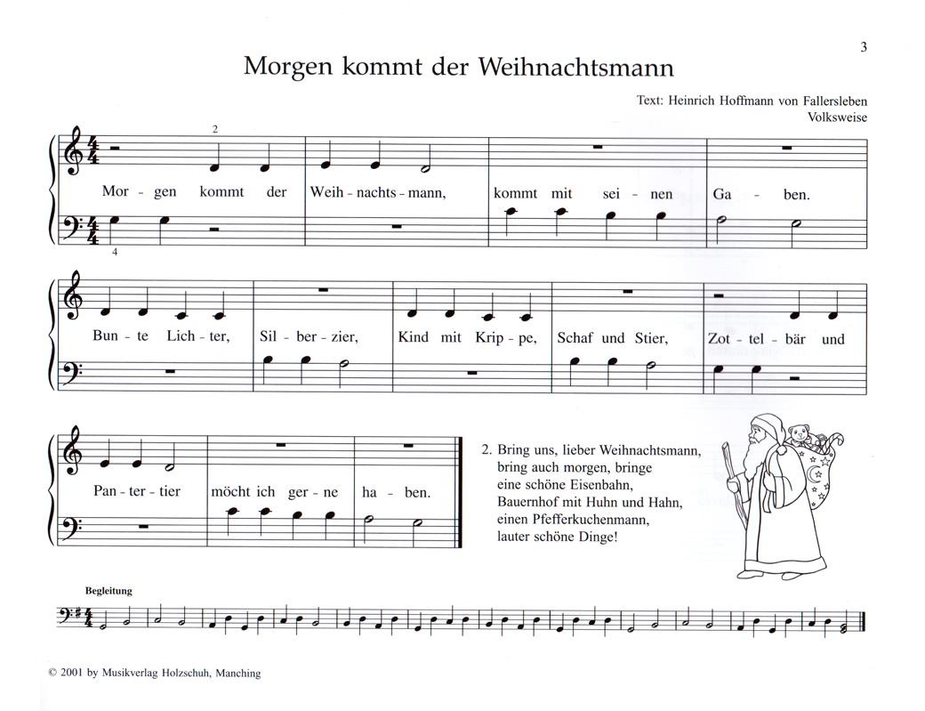 Meine allerersten Weihnachtslieder - Noten für Klavier - VHR3540 ...