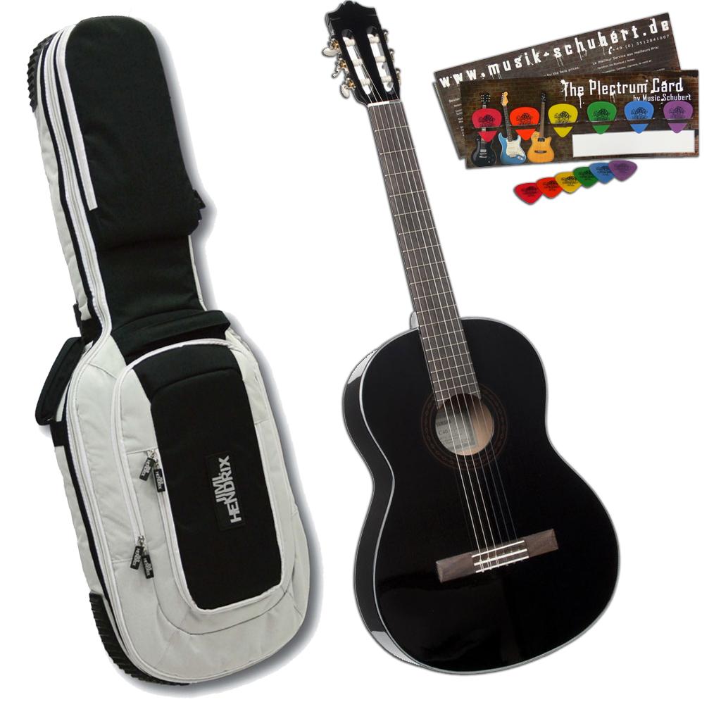 akustik konzertgitarre yamaha c40 black plektrumset. Black Bedroom Furniture Sets. Home Design Ideas
